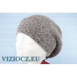 Берет вязаный VIZIO S5282 B Aidabrill белый