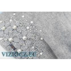 6734 B Vizio Италия Берет серый Коллекция 2021 ИНТЕРНЕТ МАГАЗИН VIZIOCZ.EU