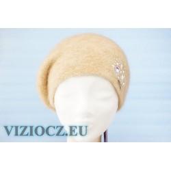 Baret béžový & Swarovski krystaly 6485 Vizio Collection Itálie