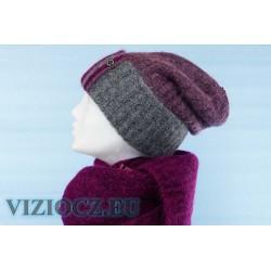 K2 КОМПЛЕКТ VIZIO: Берет 5161 B + Шарф S фиолетовые