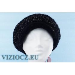6756 W Кепи Vizio Италия Зима 2021 Шапка чёрная с козырьком