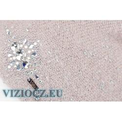 6705 CY Italy Vizio Hat Pink-Beige & Swarovski crystals