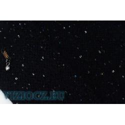 6705 CRY Itálie Klobouk Vizio Flitry & Grafitový lurex