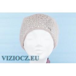 Шапка VIZIO S4780 C Zig-zag Viola серо-розово-коричневая